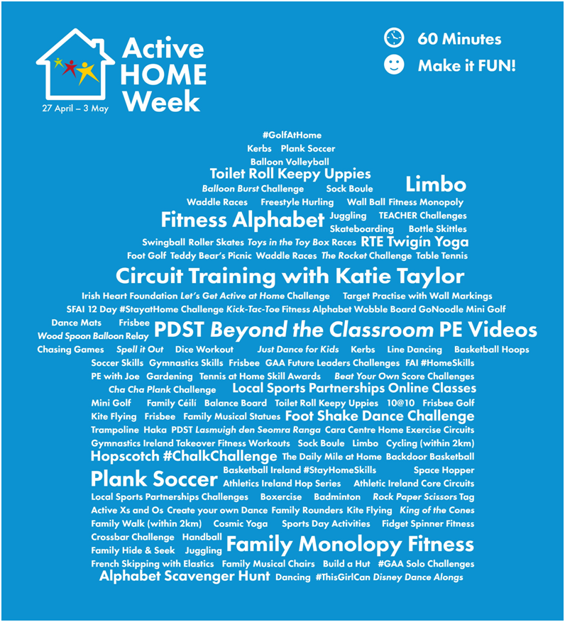 active home week ideas